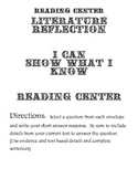 Reading Center Literature Questions Activity