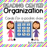 Reading Center Organization Cards