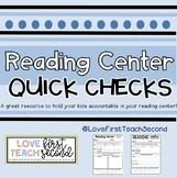 Reading Center Quick Check