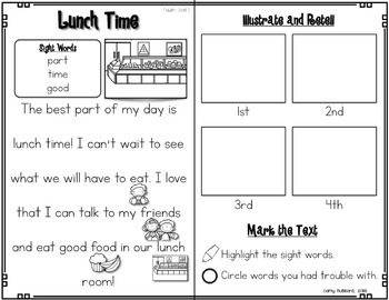 Reading Comprehension Passages and Questions~ Back To School Edition