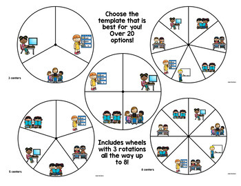 Reading Center Rotation Wheels-EDITABLE!