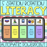 Reading Center Rotations Automatic PowerPoint Chart