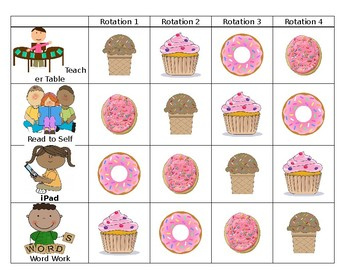 Reading Center Rotations (EDITABLE with Pictures)