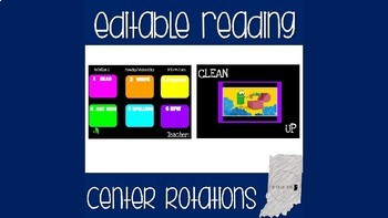 Reading Center Rotations Editable Powerpoint Black and Bright