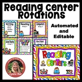 Reading Center Rotations Editable Powerpoint for 5 Centers