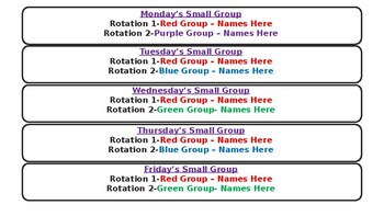 Reading Center Rotations Powerpoint