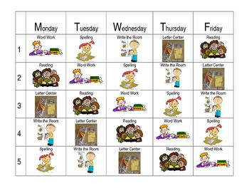 Reading Center Schedule