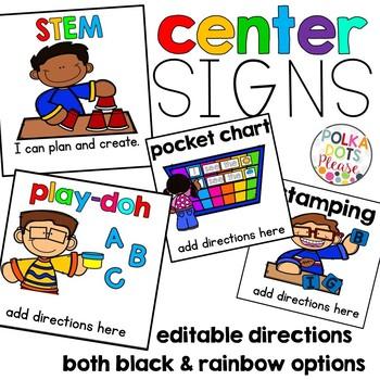 Reading Center Signs SET 2