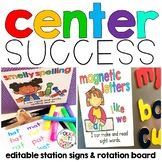 Reading Center Signs and Board (includes Daily Five)