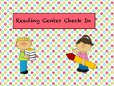 Reading Center Smartboard Check In