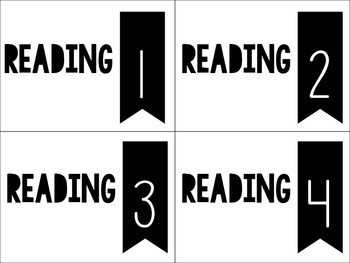 Reading Center Station Labels FREEBIE