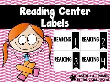 Reading Center Station Labels FREEBIE