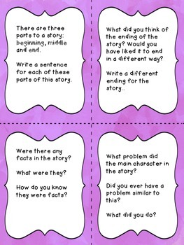 Reading Center Task Cards for Grades 2 to 4