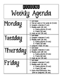Reading Center Weekly Agenda
