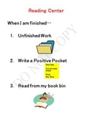 Reading Center- When I Am Finished...