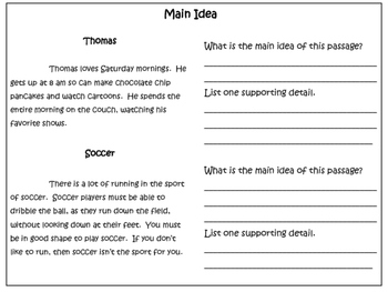 Reading Comprehension Centers: Reading Skills
