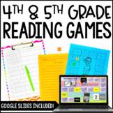 Reading Games   4th & 5th Grade Reading Centers with Digital Reading Games