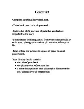 Reading Centers- 8 Activities