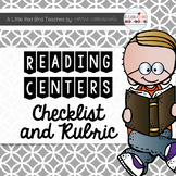 Reading Centers Checklist and Rubric