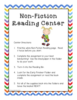 Reading Centers Made Easy!  Rainbow/Kid Themed Grades 1 - 4  Simple to Use!
