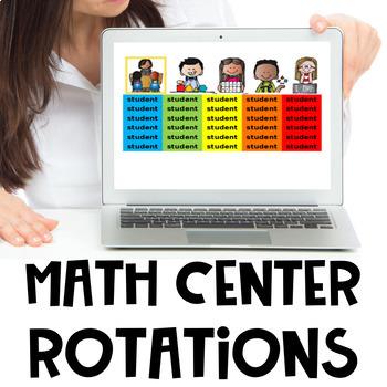 Math Centers Rotation Editable Timed Slideshow
