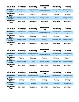 Reading Centers Schedules