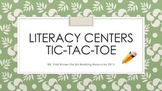 Reading Centers' Tic Tac Toe