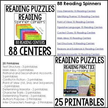 Reading Centers and Games for 4th and 5th Grade MEGA BUNDLE