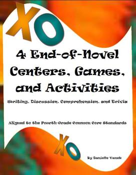 Reading Centers:Writing, Discussion, Comprehension, & Trivia; 4thG Common Core