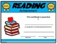 Reading Certificate - Editable