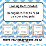 AR Reading Certificates - Words Read