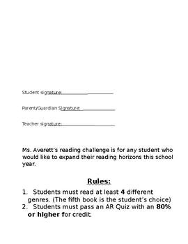 Reading Challenge 2018-2019