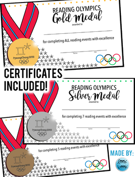 Reading Challenge & Certificates: 2018 Winter Olympic Themed