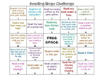 Reading Challenge Bingo