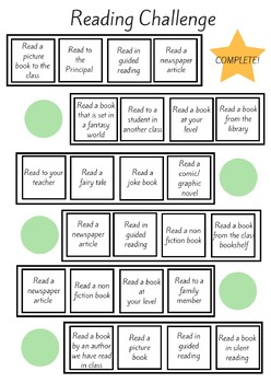 Reading Challenge Board