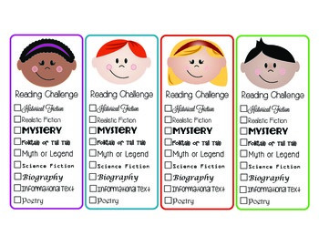 Reading Challenge Bookmarks