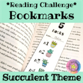Reading Challenge Bookmarks: Succulent Theme