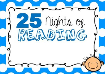 Reading Challenge Display Cards 'Nights of Reading'