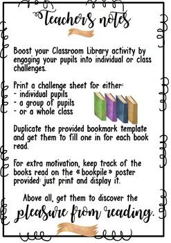 Reading Challenge - Editable set