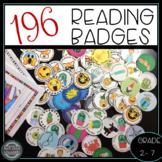 Reading Badges Bundle! Motivate Independent Reading (40 Book Challenge)