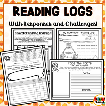 Reading Challenge Reading Logs Reading Responses for November