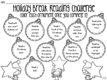 Reading Challenge for Winter Break and Christmas Break {Freebie!}