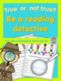 ESL Reading Challenge  true or not true? Be a reading detective