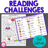 Reading Challenges Dot Edition | Independent Reading Activities