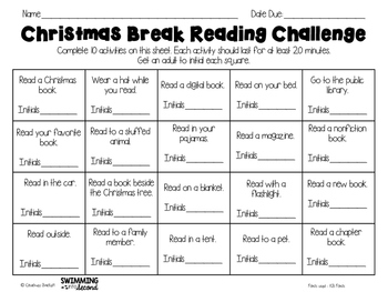 Reading Challenges Freebie (Christmas & Winter)