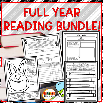 Reading Challenges Higher Order Thinking Reading Logs & Responses Growing Bundle
