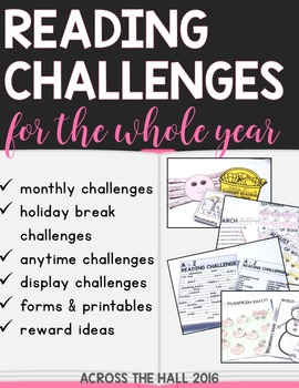 Reading Logs | Book Logs | Monthly Reading Challenges | Reading at Home
