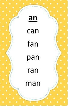 Word Family Reading Posters 1