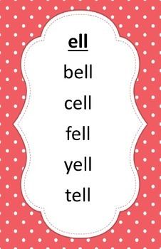Word Family Reading Posters 2