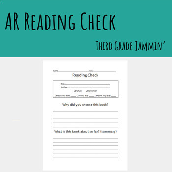 Reading Check - Accelerated Reader (AR)